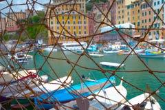 Puerto detrás de la red Fotografía de archivo libre de regalías