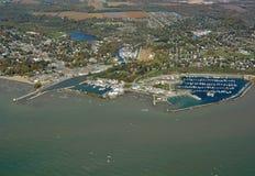 Puerto Dover Ontario, aéreo Foto de archivo libre de regalías