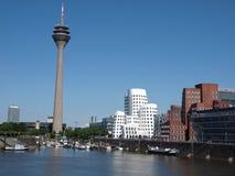Puerto Duesseldorf de los media Imagen de archivo libre de regalías