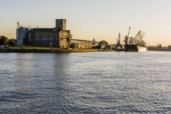 Puerto el Vístula muerto fotos de archivo