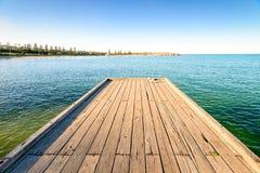 Puerto Elliot Jetty, sur de Australia Foto de archivo