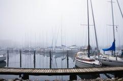 Puerto en Aarhus Imagen de archivo libre de regalías