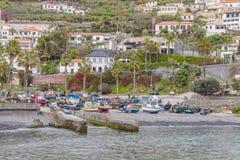 Puerto en Camara de Lobos Imagen de archivo libre de regalías