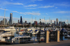 Puerto en Chicago Fotos de archivo libres de regalías