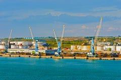 Puerto en Civitavecchia, Italia Fotos de archivo libres de regalías