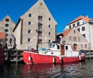 Puerto en Copenhague Foto de archivo libre de regalías