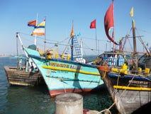 Puerto en Diu/la India Imágenes de archivo libres de regalías