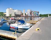 Puerto en el Midland, Ontario, Canadá Imagen de archivo libre de regalías