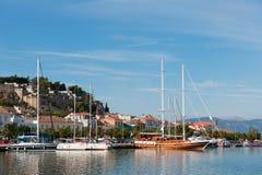 Puerto en el nafplion griego Fotografía de archivo libre de regalías