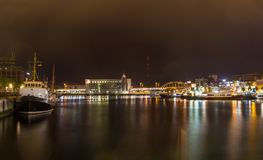 Puerto en el puerto de Kiel, Alemania foto de archivo libre de regalías