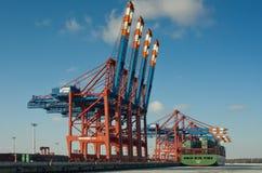 Puerto en Hamburgo Fotografía de archivo libre de regalías