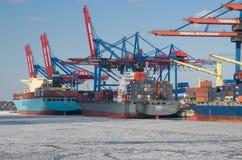 Puerto en Hamburgo Fotos de archivo libres de regalías