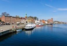 Puerto en Kappeln/Schlei Fotos de archivo
