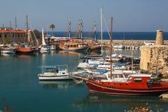 Puerto en Kyrenia (Girne) Chipre septentrional Imagen de archivo