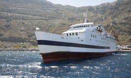 Puerto en la caldera de Santorini fotos de archivo