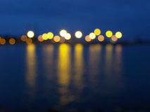 Puerto en la noche Foto de archivo libre de regalías