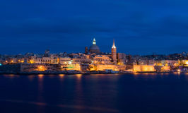 Puerto en la noche Fotos de archivo