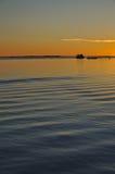 Puerto en la puesta del sol Fotos de archivo libres de regalías
