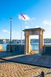 Puerto en los pasos de Plymouth Myflower imágenes de archivo libres de regalías