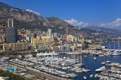 Puerto en Mónaco Foto de archivo libre de regalías
