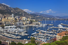 Puerto en Mónaco Fotos de archivo libres de regalías