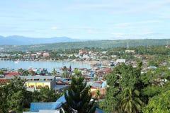 Puerto en Manokwari Fotos de archivo libres de regalías