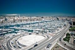 Puerto en Marsella Fotos de archivo libres de regalías
