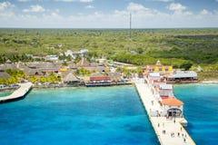 Puerto en maya de Puerta - Cozumel, México foto de archivo