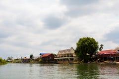 Puerto en Mekhong Don Det Imagen de archivo