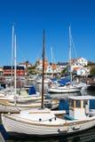 Puerto en Mollosund, Suecia fotos de archivo