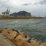 Puerto en Palermo Fotos de archivo libres de regalías