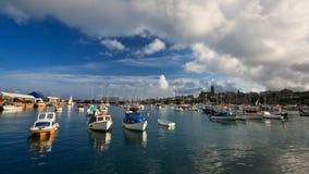 Puerto en Penzance, Cornualles. Foto de archivo libre de regalías