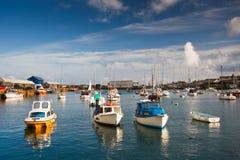 Puerto en Penzance, Cornualles imágenes de archivo libres de regalías