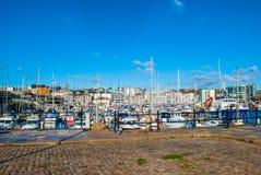 Puerto en Plymouth fotografía de archivo libre de regalías