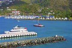 Puerto en Tortola, BVI imagen de archivo