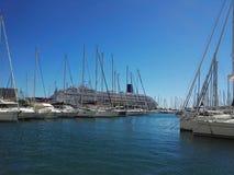 Puerto en Toulon Francia Fotos de archivo libres de regalías