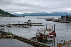 Puerto en Tromso, Noruega Fotos de archivo libres de regalías