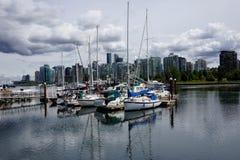 Puerto en Vancouver fotos de archivo