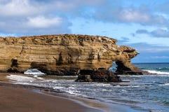 Puerto Ergas -圣地亚哥海岛 库存图片