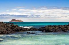 Puerto Ergas - Santiago Island Lizenzfreie Stockbilder