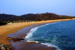 Puerto Escondido strand arkivbilder