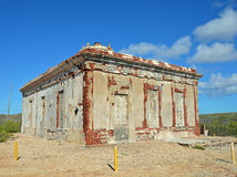Puerto Ferro Berdiales Lighthouse Ruins in Vieques. Photo of the Puerto Ferro Berdiales Lighthouse Ruins Archeological Site in Vieques Puerto Rico Stock Photo