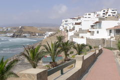 Puerto Fiel scenic view of a housing development, Lima Royalty Free Stock Image