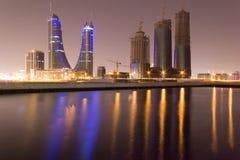Puerto financiero de Bahrein Imagenes de archivo