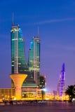 Puerto financiero de Bahrein Imagen de archivo