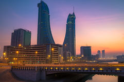 Puerto financiero de Bahrein Imagen de archivo libre de regalías
