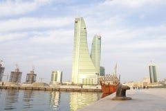Puerto financiero de Bahrein Fotos de archivo libres de regalías