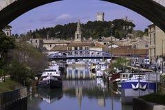 Puerto fluvial Fotos de archivo
