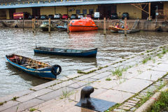 Puerto fluvial Fotografía de archivo libre de regalías