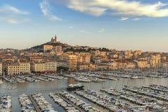Puerto Francia de Marsella Vieux imagen de archivo libre de regalías